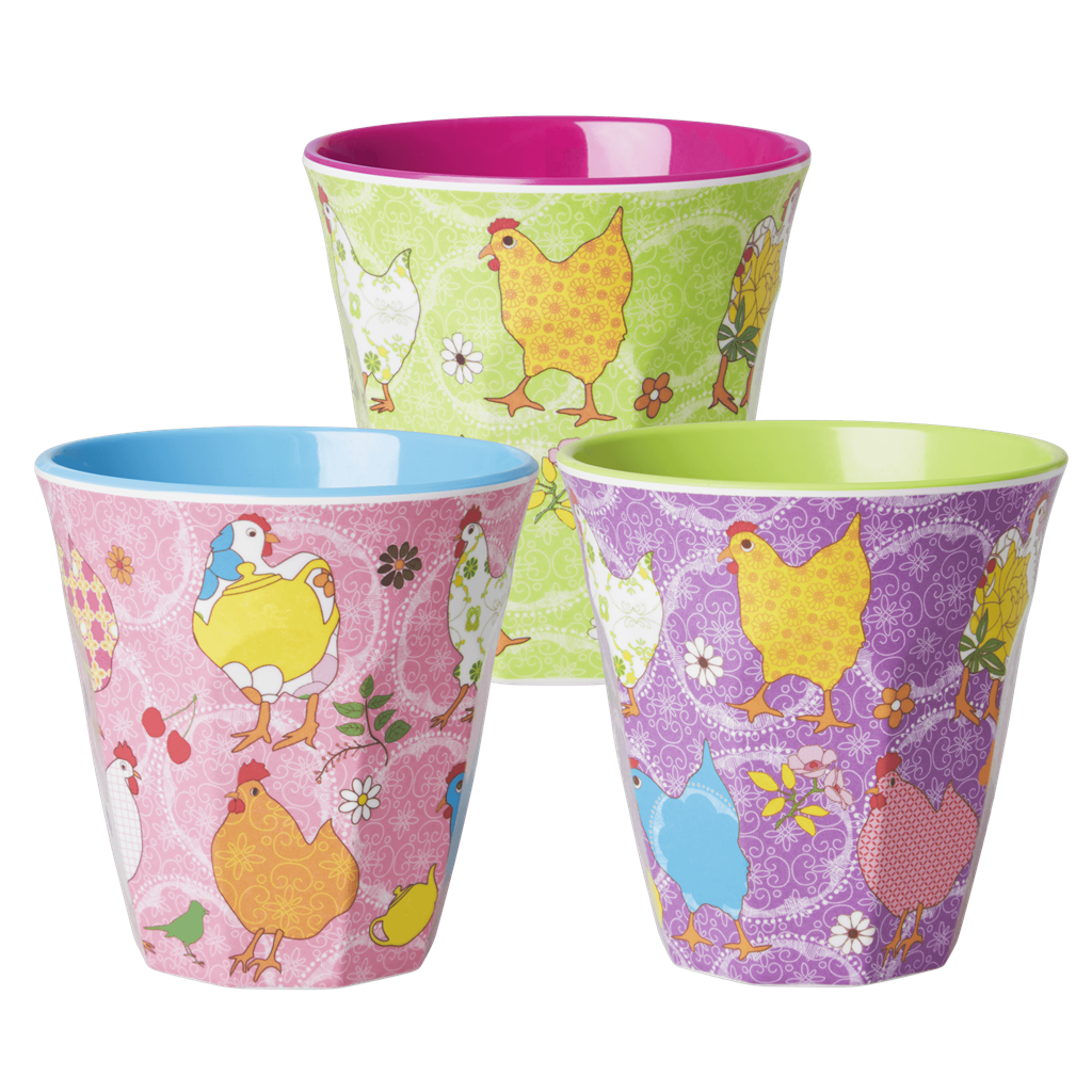 Melamine Cup - Medium in Purple Hen - Rice By Rice