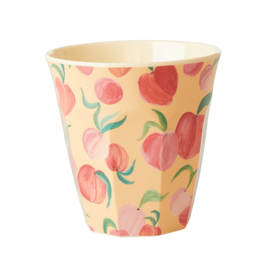 Melamine Cup - Medium in Peach - Rice By Rice