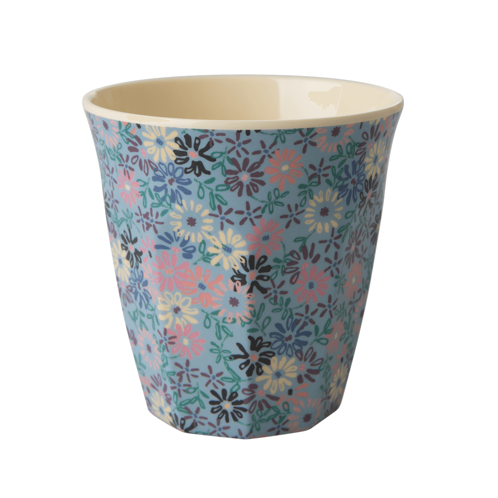 Melamine Cup with Small Flower Print - Medium - Rice By Rice