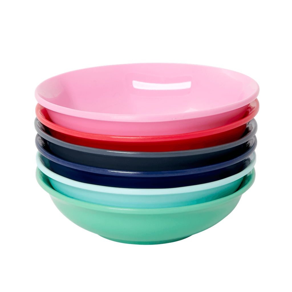 XSMALL MELAMINE DIPPING BOWL IN 6 ASSORTED COLORS - BELIEVE IN RED LIPSTICK - SET OF 6 - Giftbox