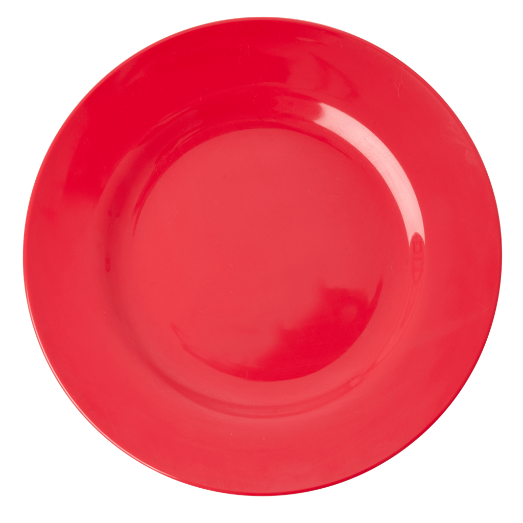 MELAMINE ROUND DINNER PLATE | RED KISS - Rice By Rice