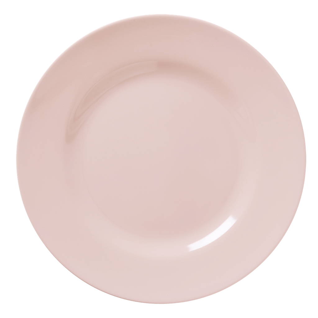 Melamine Round Dinner Plate | Soft Pink - Rice By Rice