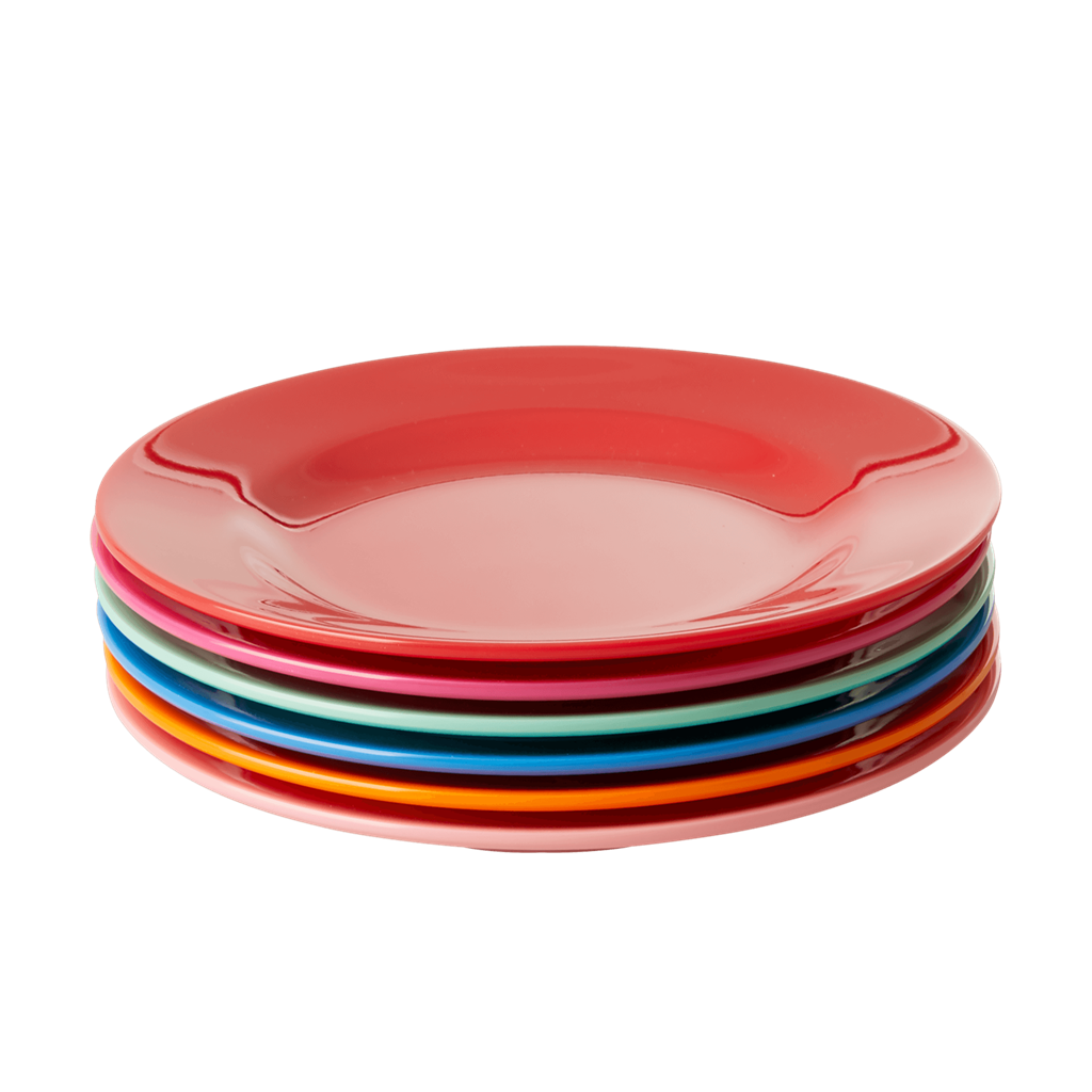 Melamine Lunch Plates in Asst. 'Choose Happy' Colors - Set of 6 pcs. - Giftbox - Rice By Rice