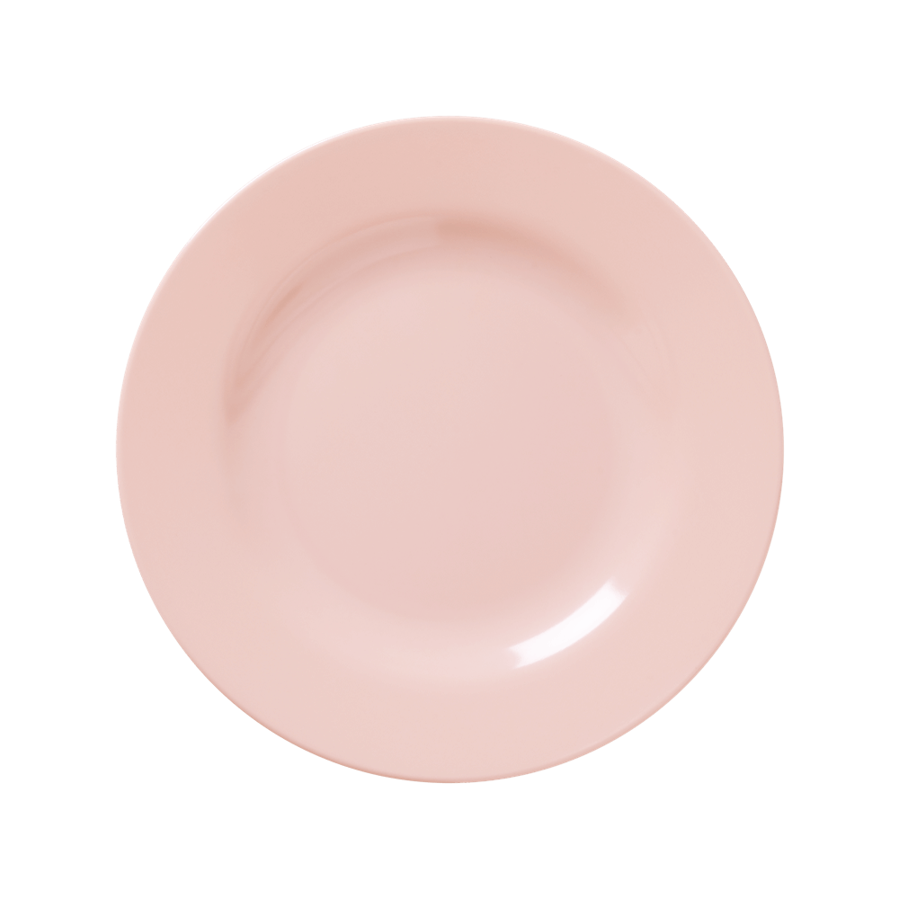 MELAMINE LUNCH PLATE IN SOFT PINK