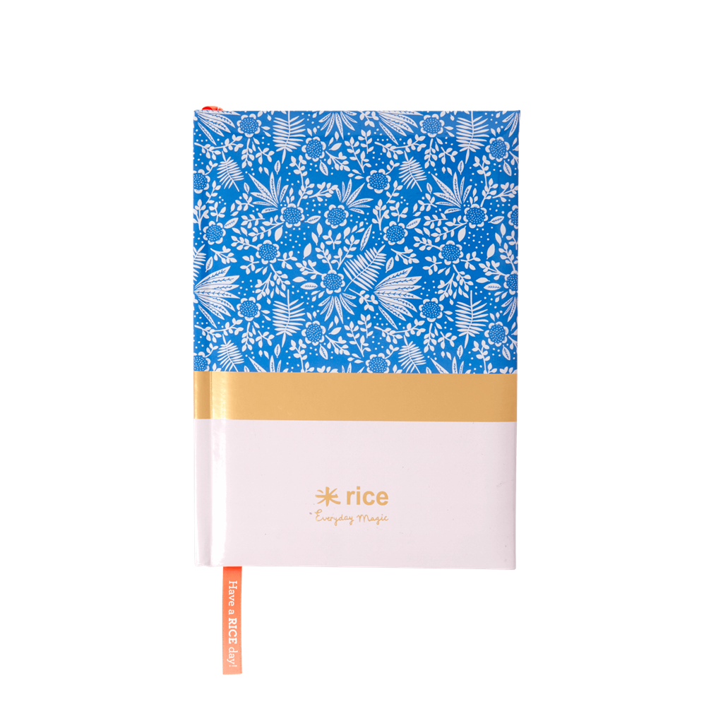 Notebooks with Blue Fern and Flower - Size A5
