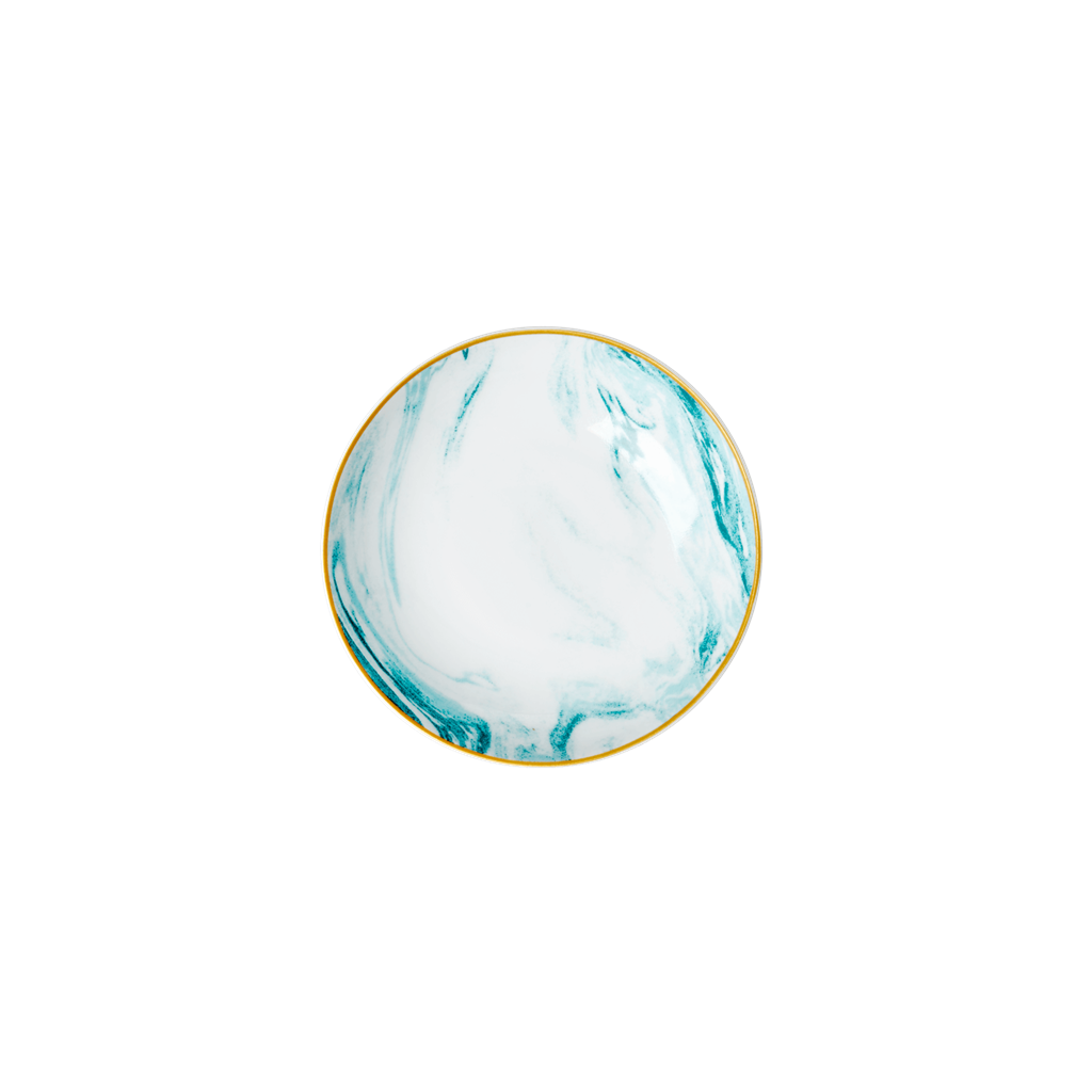 Porcelain Dipping Bowl with Marble Print - Jade