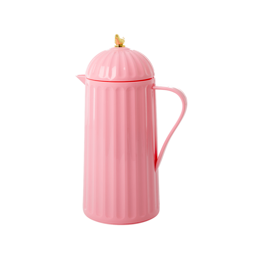Thermo with Gold Bird on Lid - Bubblegum Pink - 1 L.