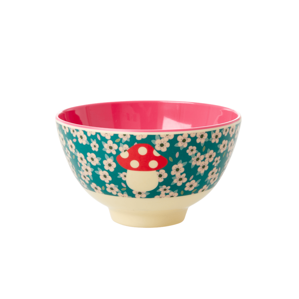 Melamine Bowl with Mushroom Print - 2020 XMAS - Small - Rice By Rice
