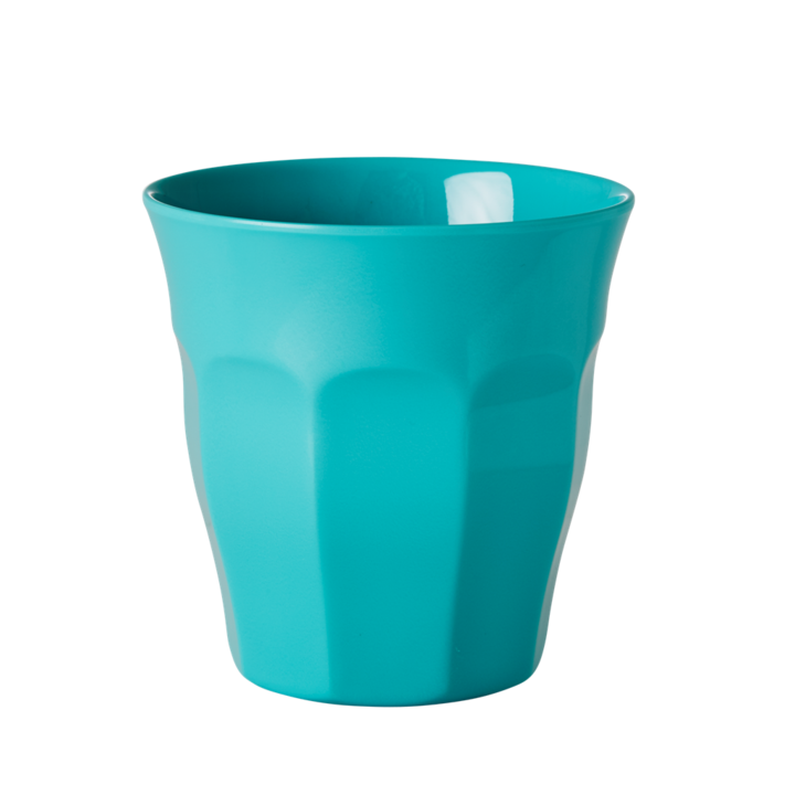 MELAMINE CUP IN ASSORTED SOLID COLORS - MEDIUM - SOLD INDIVIDUALLY | AQUA - Rice By Rice