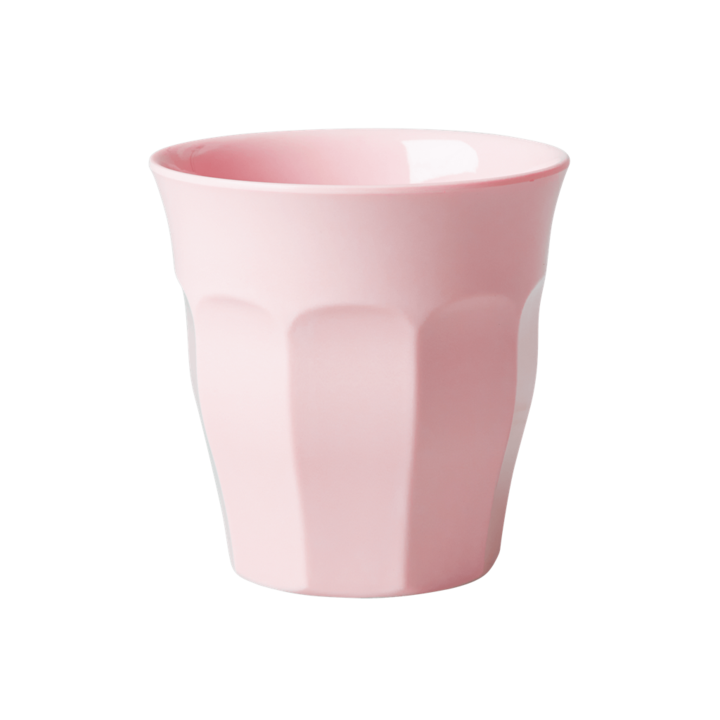 MELAMINE CUP IN ASSORTED SOLID COLORS - MEDIUM - SOLD INDIVIDUALLY | SOFT PINK - Rice By Rice