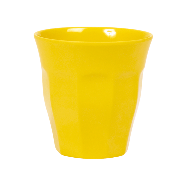 MELAMINE CUP IN ASSORTED SOLID COLORS - MEDIUM - SOLD INDIVIDUALLY | YELLOW - Rice By Rice