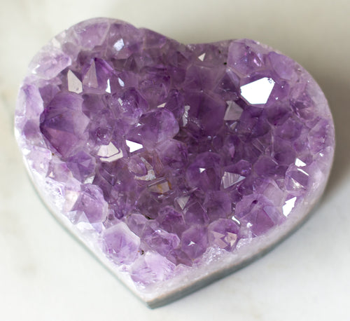 Amethyst Galaxy Heart D
