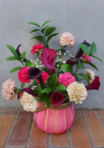 PRE - ORDER - Mothers Day Floral Basket - Mixed Flower