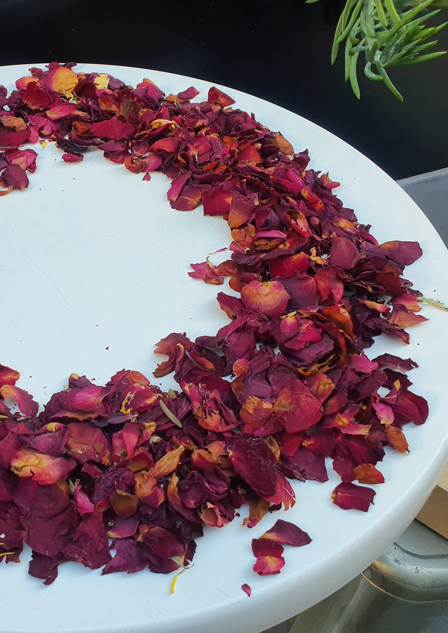 Dry Rose Petal Confetti - Red