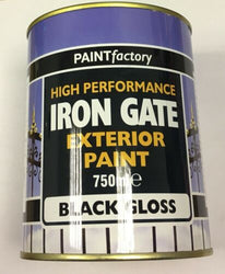 650ml Long Lasting Iron Gate Black Gloss Paint Can Easy To Apply Indoor Outdoor