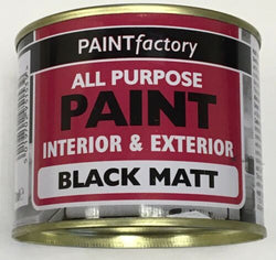 10 x Black Matt All Purpose Household DIY Paint 170ml Can!!