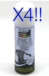 Spray To Plastic Spray Paint White Gloss 4 X 250ml