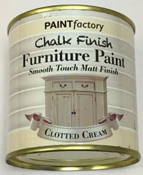 2 x 250ml Shabby Chic Effect Chalk finish Furniture Paint Clotted Cream