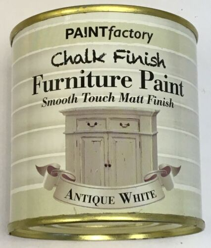 2 x 250ml Shabby Chic Effect Chalk finish Furniture Paint Antique White