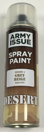 2 x Army Camouflage Combat Fishing Auto Spray Paint Colours 250ml GREY BEIGE