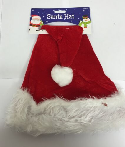 Christmas Fancy Dress Fluffy Plush Santa Hat