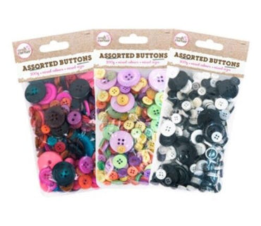 300g Bag Mix Buttons *Assorted Shapes and Sizes Mixed All 3 Packs!!