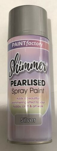 Shimmer Pearlised Paint Spray 400ml Aerosol Silver