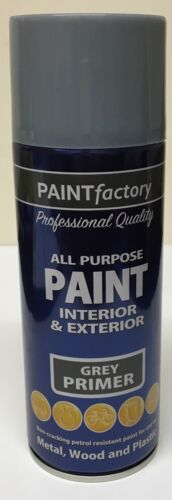 2 x 400ml All Purpose Grey Primer Spray Can Household Van Bike Aerosol Paint
