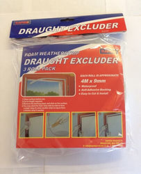 3 X 4m X 9mm Draught Excluder Door And Window Seal Self Adhesive
