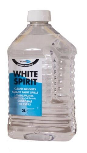 White Spirit 2L Paint Brushing Cleaner Cleaning Paint Spills Thinning Bond It