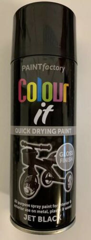 1x Paint Factory Multi-Purpose Colour It Spray Paint 400ml Jet Black