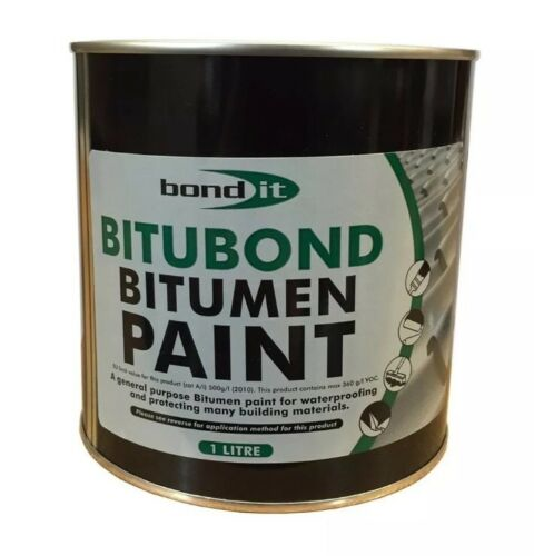 1LTR Bond it Bitubond Black Bitumen waterproofing paint all weather coating
