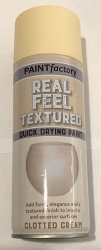 Real Feel Textured Quick Drying Paint Clotted Cream 400ml Spray Aerosol
