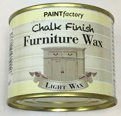 2 x 200ml Shabby Chic Effect Chalk finish Furniture LIGHT WAX