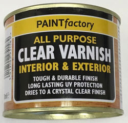 9 x Clear Gloss Varnish All Purpose Household DIY Paint 170ml Can!!