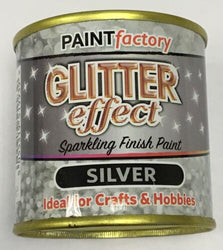 10 x Glitter Effect Silver Sparkling Finish Paint 125ml Can!! Craft And Hobbies