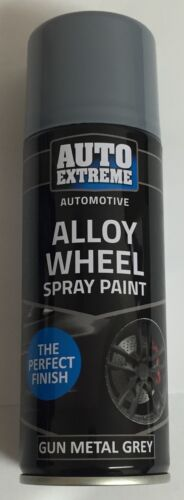 2 x 200ml Gun Metal Grey Alloy Wheel Spray Can Restorer Car Bike Auto Paint
