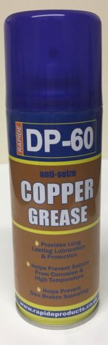 3 x RAPIDE ANTI-SEIZE COPPER GREASE HIGH TEMPERATURE LUBRICANT 200ML SPRAY CAN