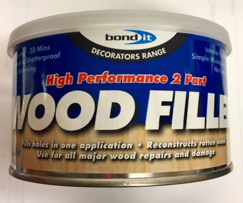LIGHT OAK BOND IT 2 PART HIGH PERFORMANCE WOOD FILLER INTERIOR EXTERIOR USE