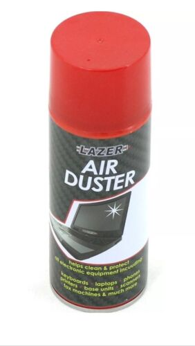 2 x Compressed Air Duster Spray Can Cleans & Protects Laptops Keyboards.. 200ml