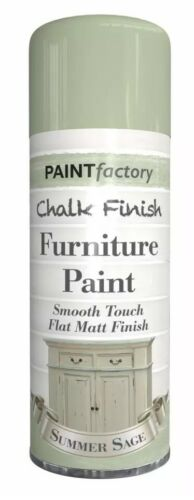 3x Summer Sage Chalk Furniture Paint Spray Smooth Touch Matt Finish Shabby Chic