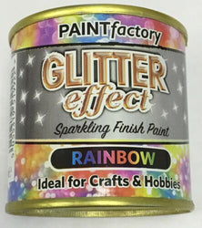9 x Glitter Effect Rainbow Sparkling Finish Paint 125ml Can!! Craft And Hobbies