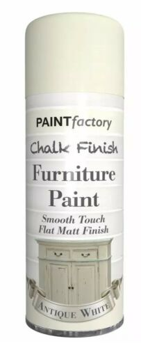 Antique White Chalk Furniture Paint Spray Smooth Touch Matt Finish Shabby Chic