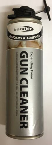 1 x BOND IT CONTRACTORS GUN GRADE PU FOAM CLEANER 500ML CAN EXPANDING BOGOF!!!