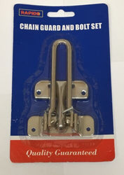 DOOR GUARD & SLIP BOLT SET CHAIN SECURITY LOCK FOR SHED DOOR HOUSE DOOR ETC