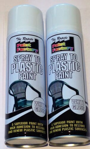 Spray To Plastic Spray Paint White Gloss 2 X 200ml