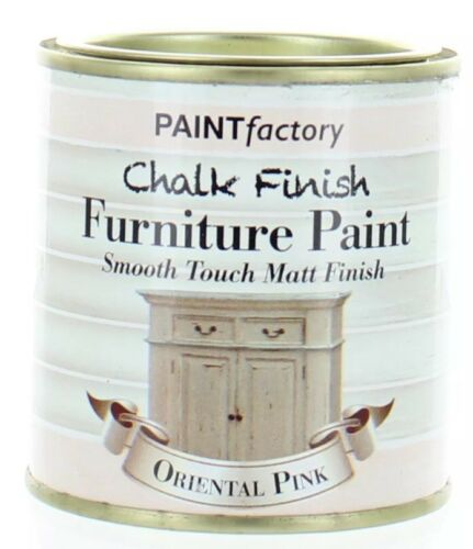 1 x 250ml Shabby Chic Effect Chalk finish Furniture Paint Oriental Pink