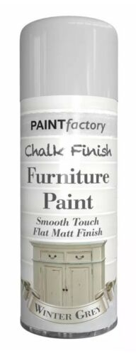 3x Winter Grey Chalk Furniture Paint Spray Smooth Touch Matt Finish Shabby Chic