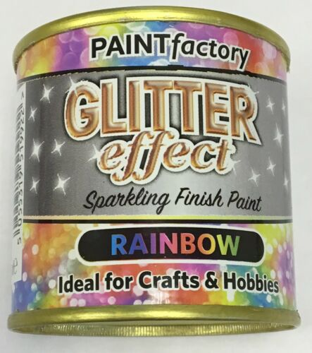 1 x Glitter Effect Rainbow Sparkling Finish Paint 125ml Can!! Craft And Hobbies