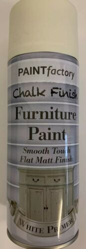 2x Chalk White Primer Furniture Paint Spray Smooth 400ml Matt Finish Shabby Chic
